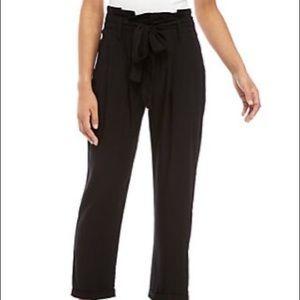 Black Paper Bag Pants